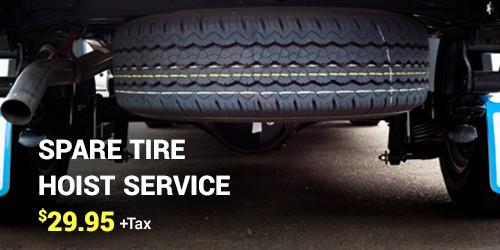 Spare Tire Hoist Service