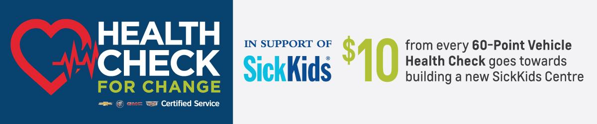 City Buick Chevrolet Cadillac GMC Health Check Service Sick Kid Special