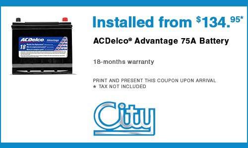 ACDelco® Advantage 75A Car Battery