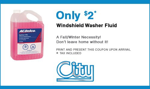 Windshield Washer Fluid Refill Special