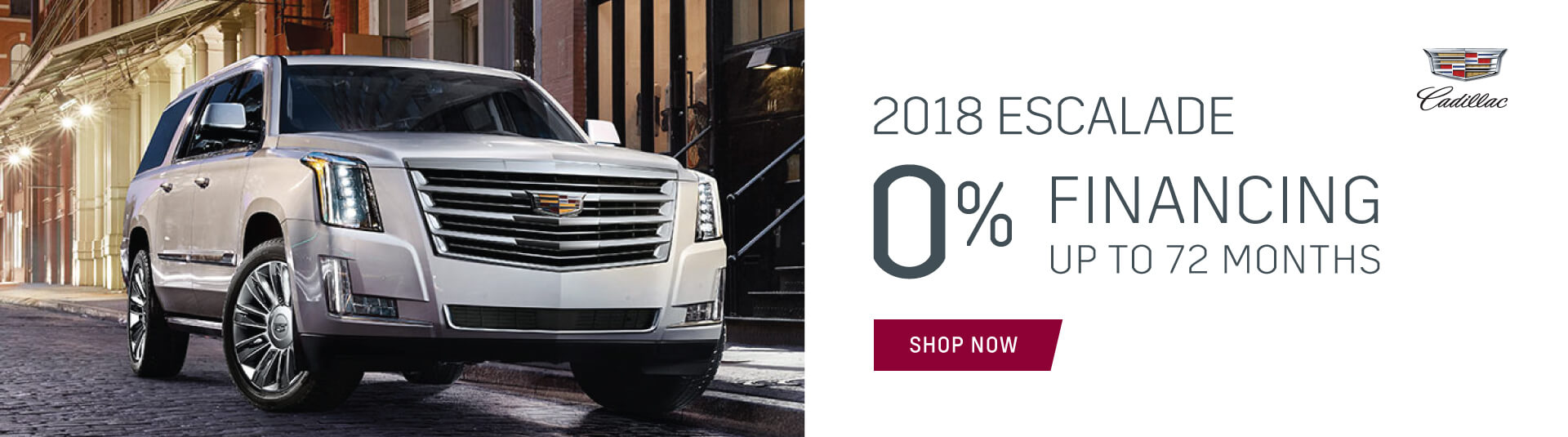 2018 Cadillac Escalade 0% financing incentive in Toronto