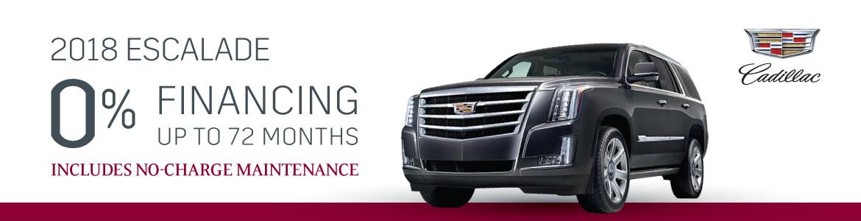 2018 Cadillac Escalade 0% Financing Special