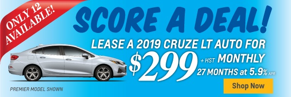 2019 Chevrolet Cruze Exclusive Lease Offer in Toronto