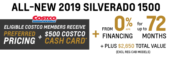 2019 Chevrolet Silverado Costco Member Program in Toronto