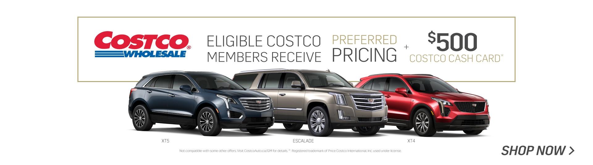 2019 Costco Member Program for Cadillac SUVs in Toronto
