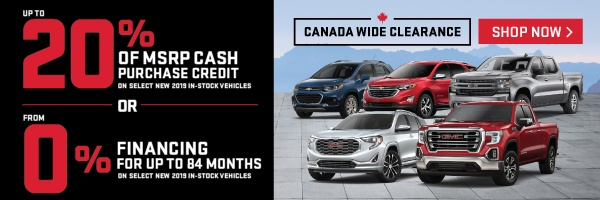 City Chevrolet and GMC Clearance Offer in Toronto
