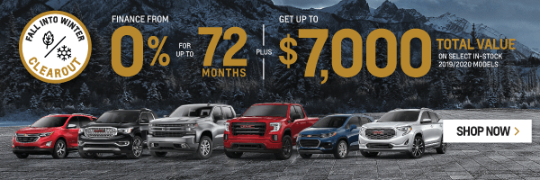 City Buick Chevrolet Cadillac GMC Fall into Winter Clearout Event