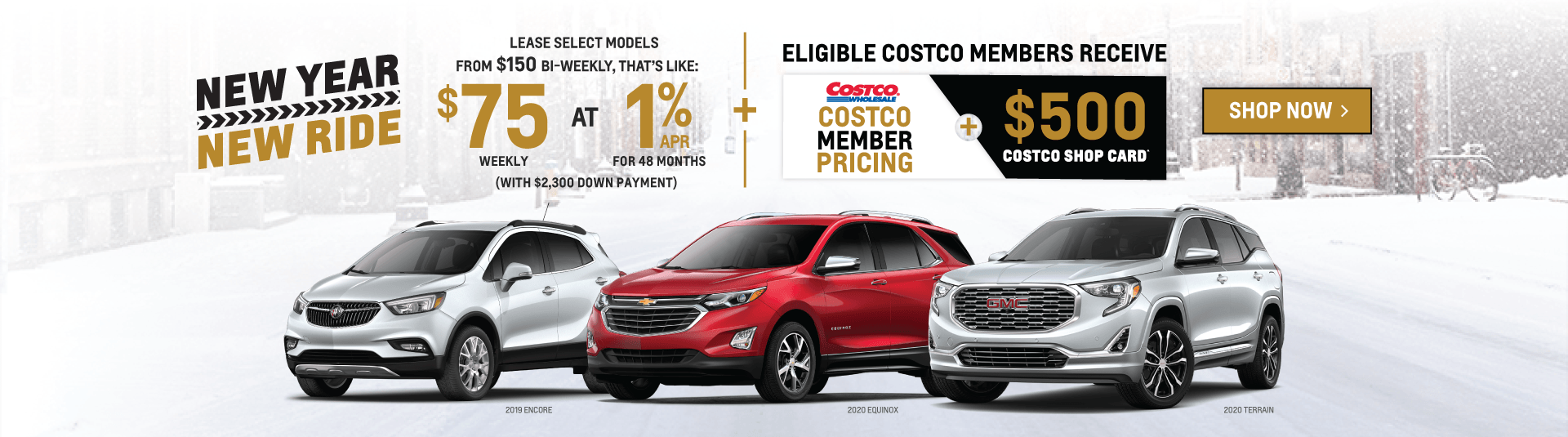 Chevrolet, Buick, GMC SUV New Year, New Ride Sale Event in Toronto