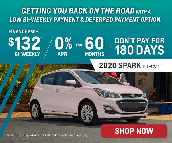 Low Bi-Weekly Payment & Deferred Payment on 2020 Chevrolet Spark in Toronto