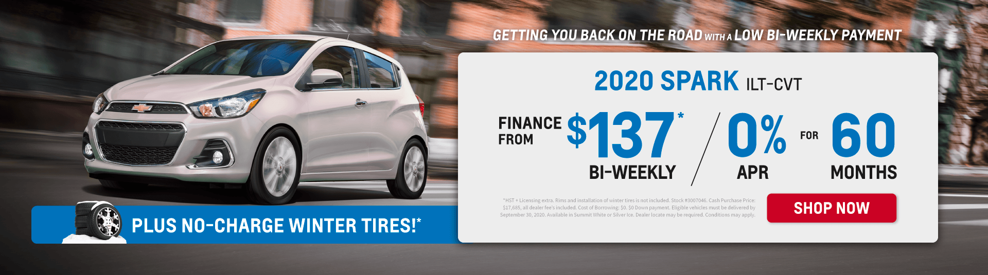 Low Bi-Weekly Payment on 2020 Chevrolet Spark in Toronto