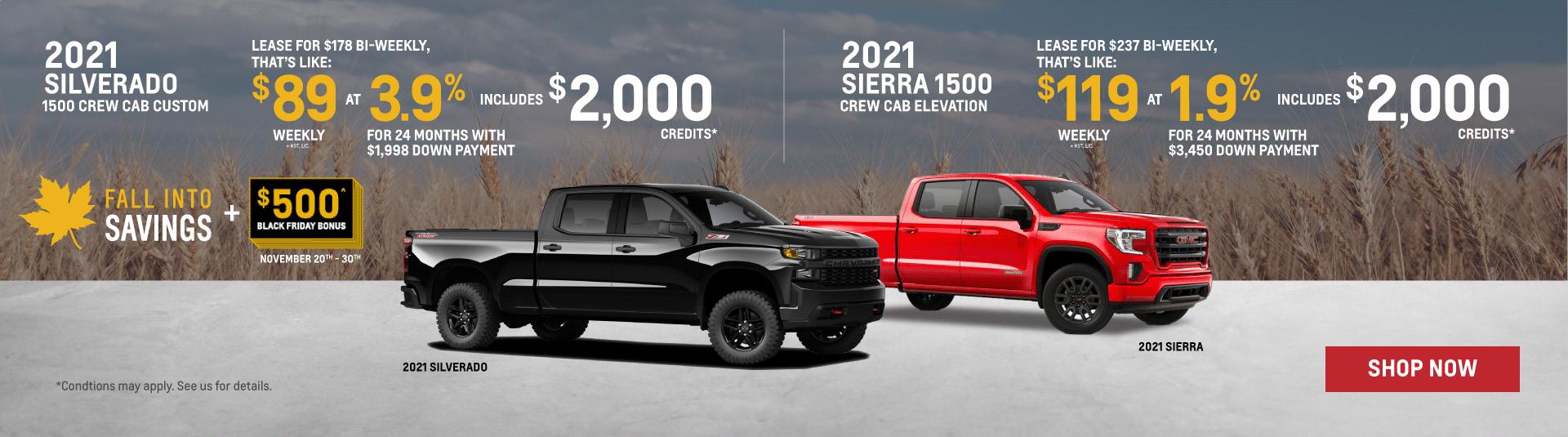 Chevrolet Silverado and GMC Sierra Black Friday Offers in Toronto