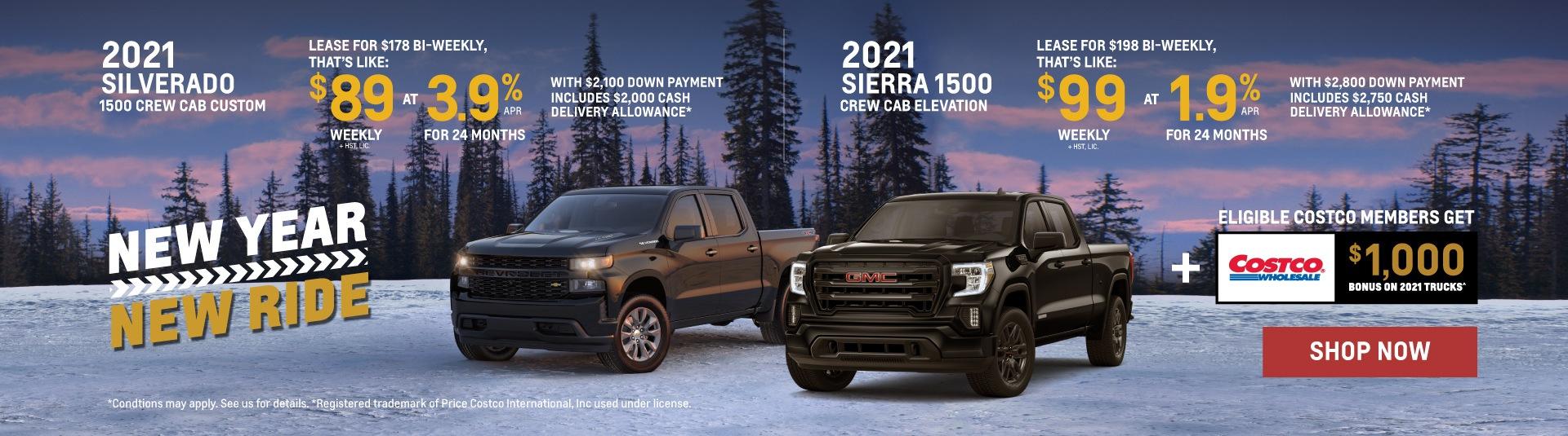 2021 Chevrolet Silverado and 2021 GMC Sierra Offers in Toronto