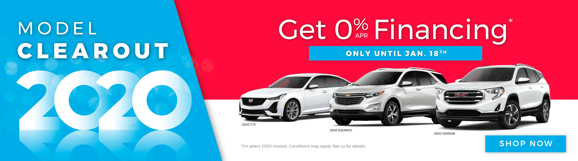 Chevrolet, Buick, GMC and Cadillac Model Clearout in Toronto - Last Chance To Get 0% Financing
