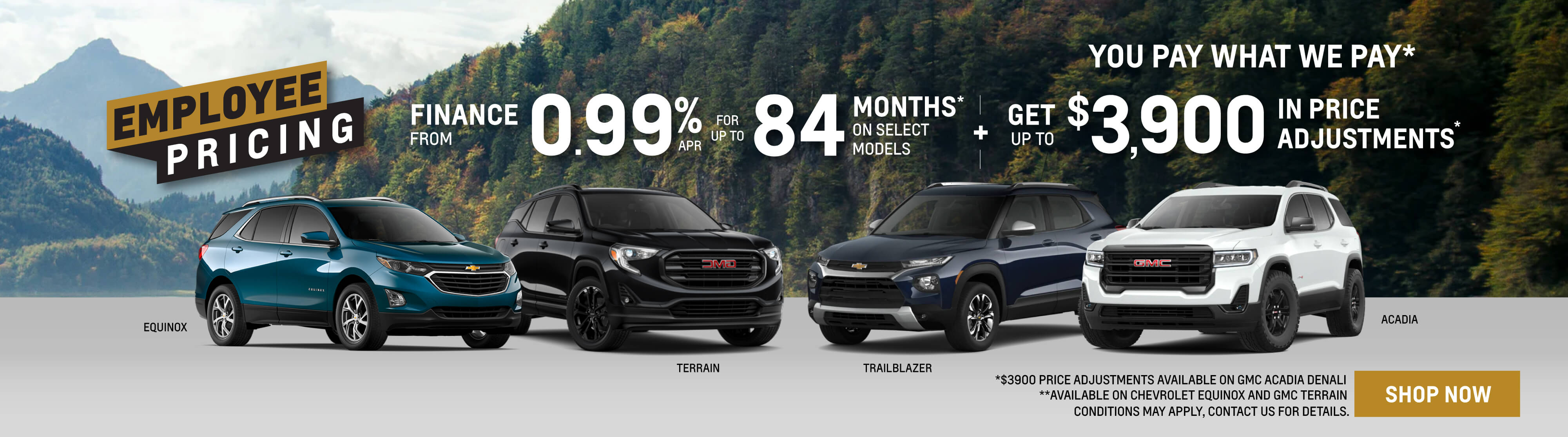 Chevrolet Buick GMC Employee Pricing Event 2021