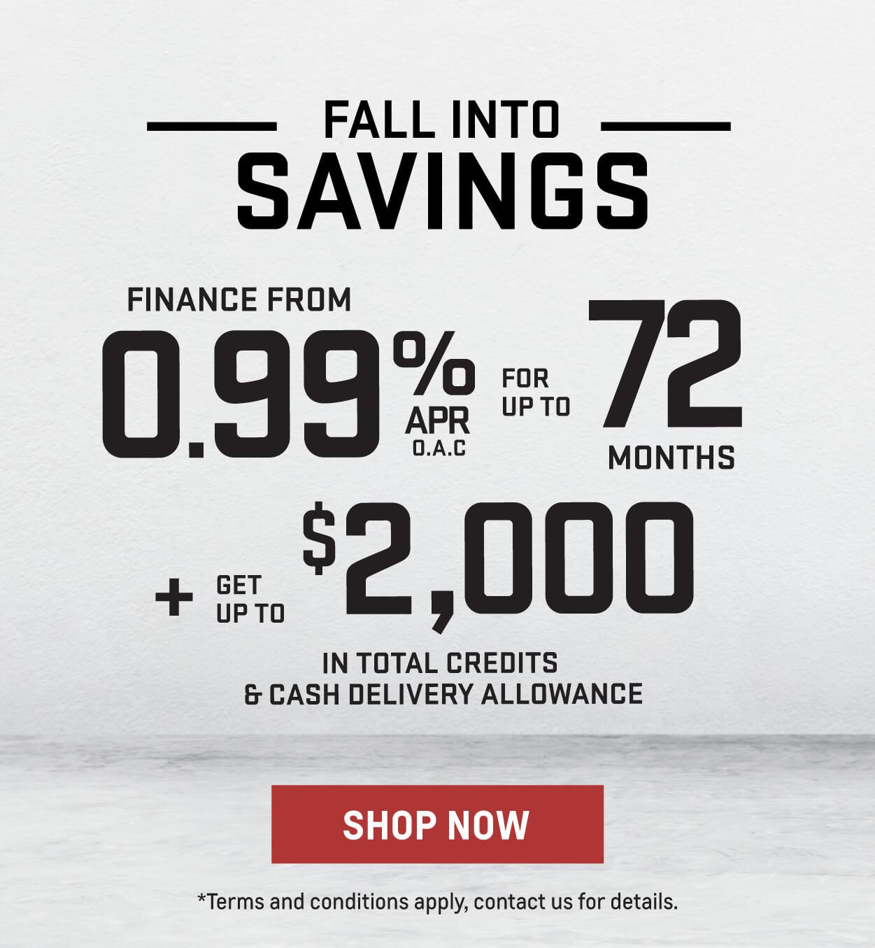 Fall into savings slider